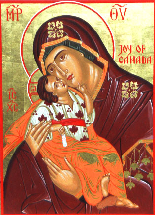 Joy of Canada icon, a gift to the Canadian Orthodox Monastery of All Saints of North America